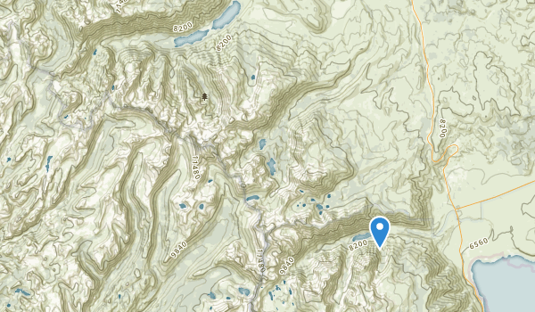 trail locations for Hoover Wilderness
