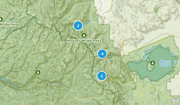 Hoover Wilderness Map