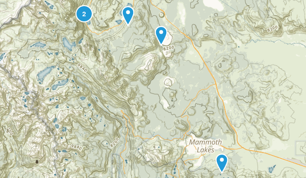 Owens River Headwaters Wilderness Map
