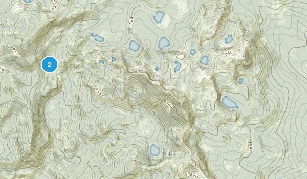 Dinkey Lakes Wilderness Map