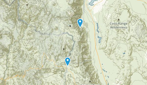 South Sierra Wilderness Map