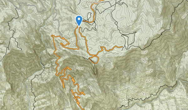 trail locations for Sequoia-Kings Canyon Wilderness