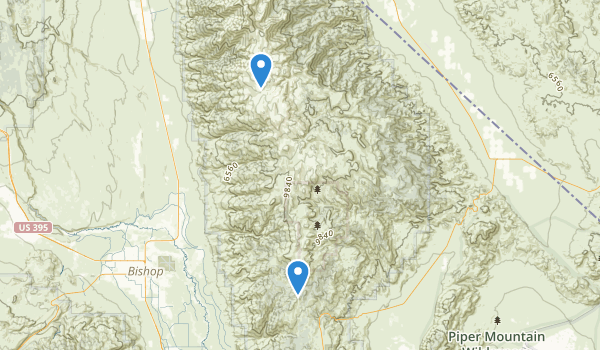 White Mountains Wilderness Map