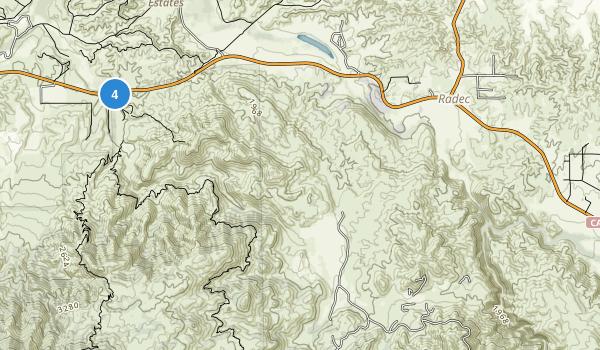 Agua Tibia Wilderness Map
