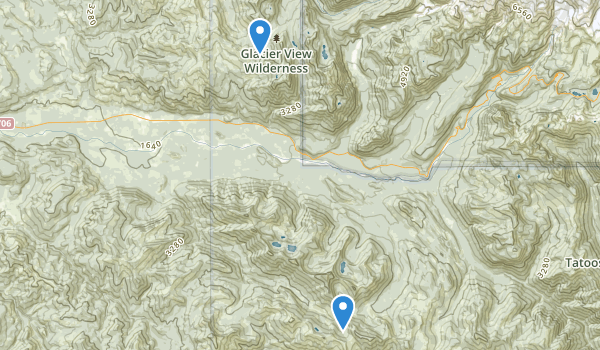 trail locations for Glacier View Wilderness
