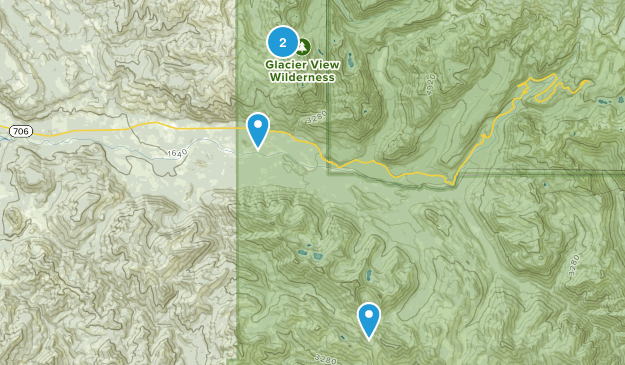 Glacier View Wilderness Map