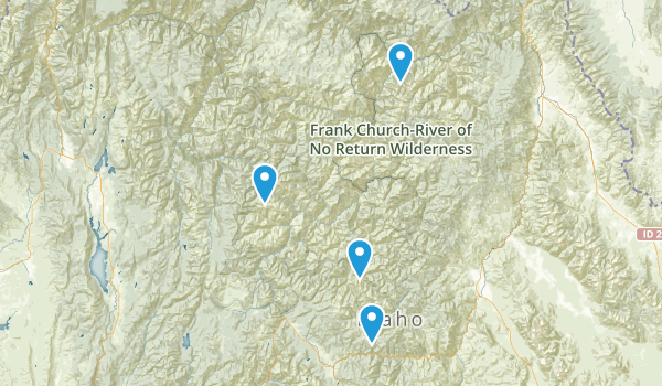 Frank Church-River of No Return Wilderness Map