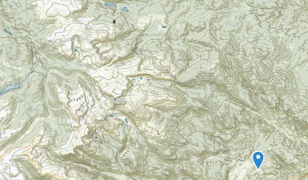trail locations for Comanche Peak Wilderness