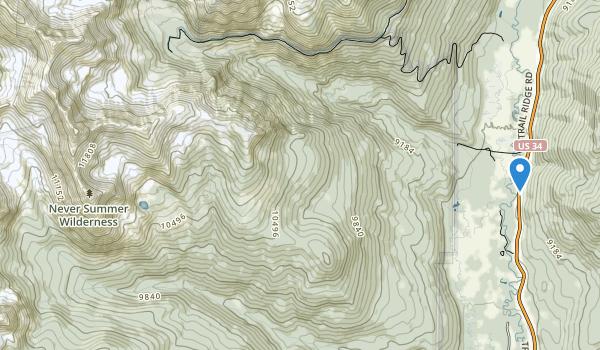 Never Summer Wilderness Map
