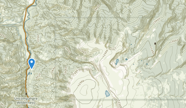 trail locations for Powderhorn Wilderness