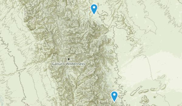 Galiuro Wilderness Map