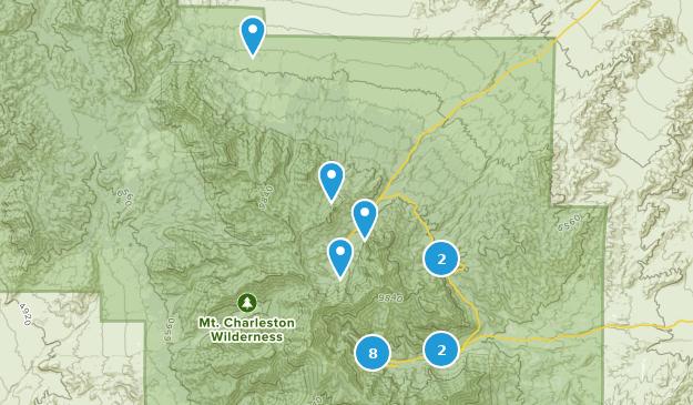 Mt. Charleston Wilderness Map