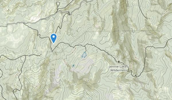 Jennie Lakes Wilderness Map