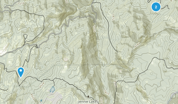 Jennie Lakes Wilderness Map