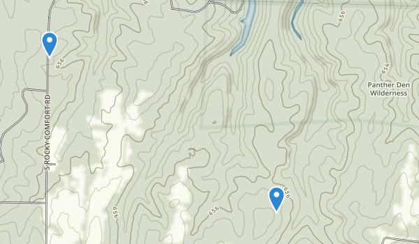 Panther Den Wilderness Map