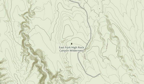 East Fork High Rock Canyon Wilderness Map