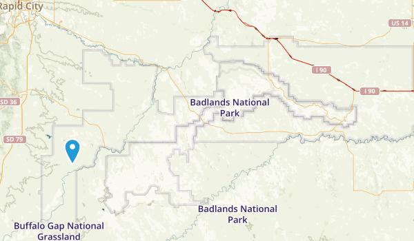 Buffalo Gap National Grassland Map