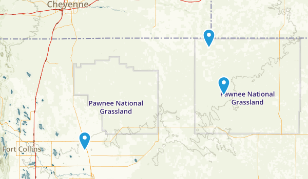 Pawnee National Grassland Map