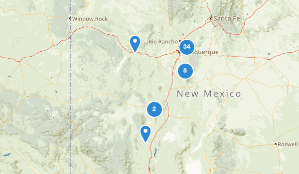 trail locations for Cibola National Forest