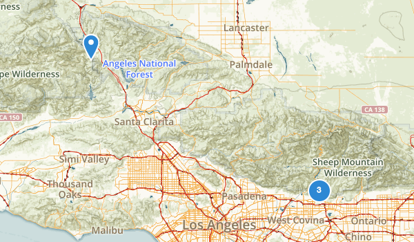 trail locations for Angeles Other