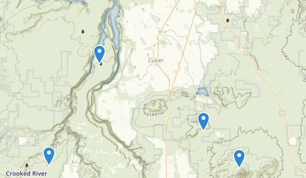 Crooked River National Grassland Map