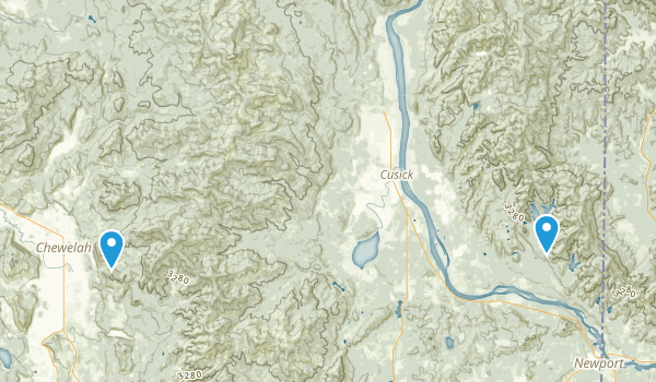 Kaniksu National Forest Map
