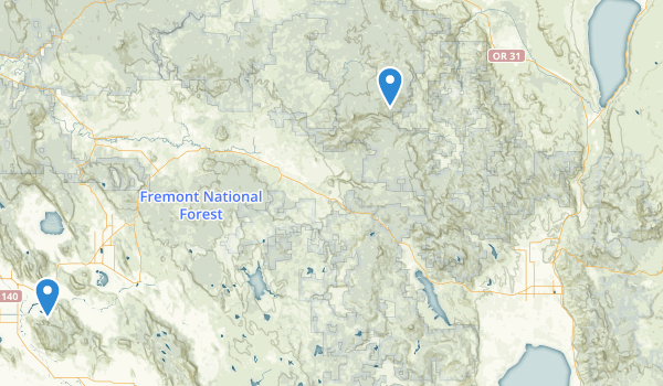 trail locations for Fremont National Forest