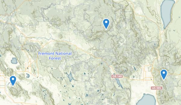 Fremont National Forest Map