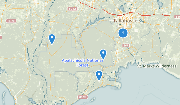 trail locations for Apalachicola National Forest