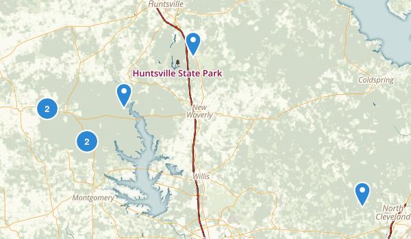 Sam Houston National Forest Map