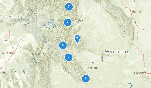 trail locations for Shoshone National Forest