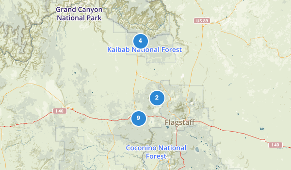 trail locations for Kaibab National Forest