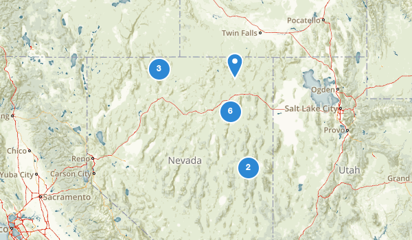trail locations for Humboldt National Forest