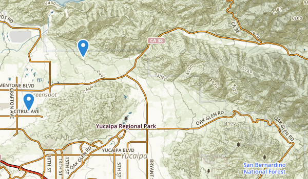 trail locations for San Bernardino Other