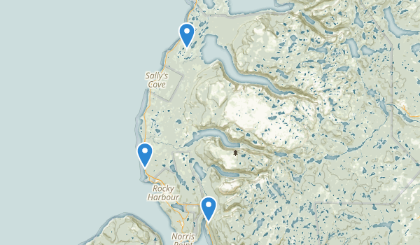 trail locations for Gros Morne National Park Of Canada