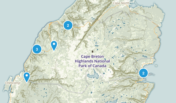 Cape Breton Highlands National Park Of Canada Map