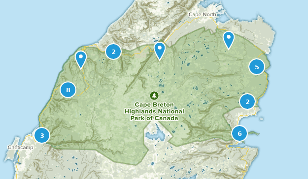 Best Trails in Cape Breton Highlands National Park Of Canada ... on trans canada trail map, waterton canada map, national park map, waterton-glacier international peace park map, lakes canada map, richmond canada map, canada's natural resources map, united states canada map, airports canada map, superior canada map, islands canada map, vernon canada map, map of canada map, air canada map, ohio canada map, forests canada map, marble canyon canada map, banks canada map, canada volcano map, ottawa canada map,