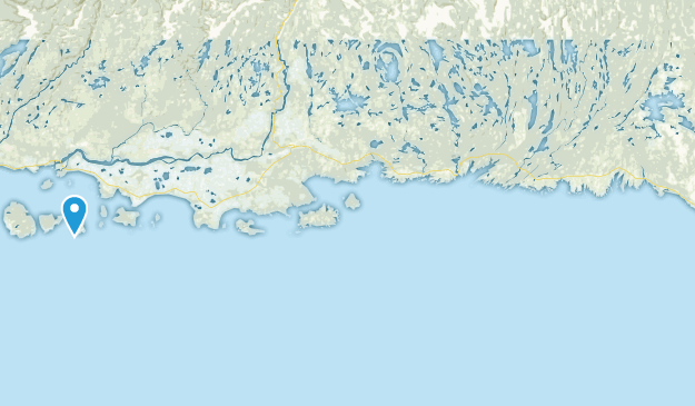 Mingan Archipelago National Park Reserve Of Canada Map