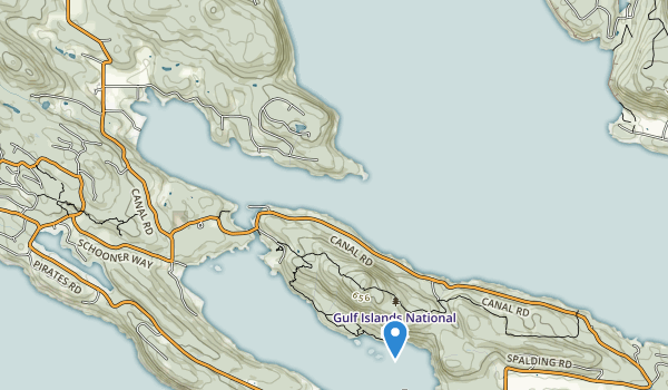 trail locations for Gulf Islands National Park Reserve Of Canada