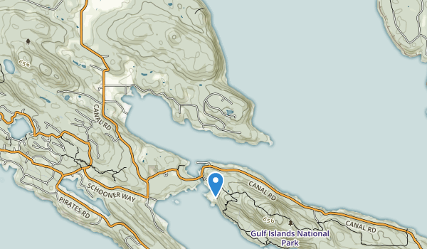Gulf Islands National Park Reserve Of Canada Map
