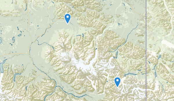 Wrangell-St. Elias Preserve & Wilderness Map