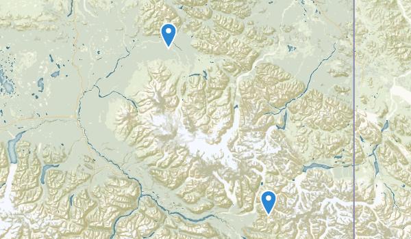 Wrangell-St. Elias Preserve & Wilderness Map