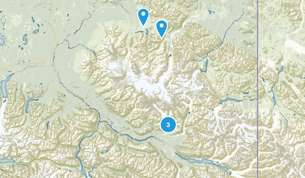 Wrangell-St. Elias Park & Wilderness Map