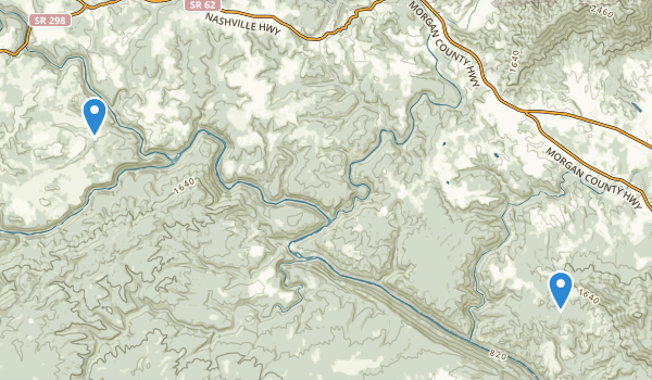 trail locations for Obed Wild and Scenic River