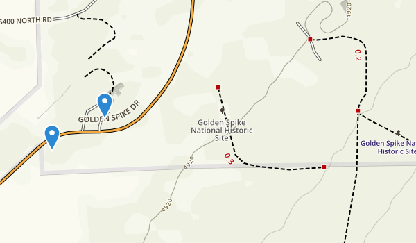 trail locations for Golden Spike National Historic Site