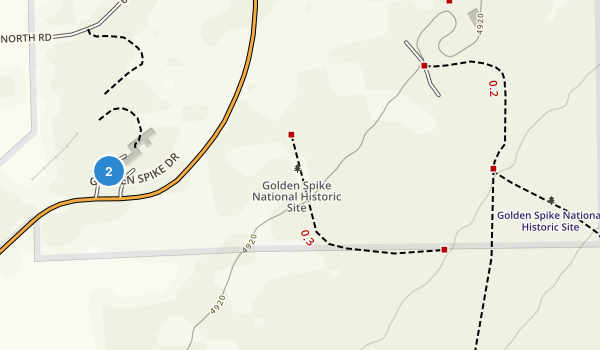 Golden Spike National Historic Site Map