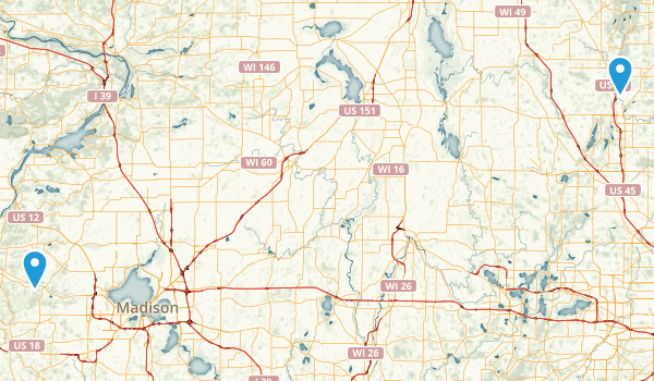 Ice Age National Scenic Trail Map