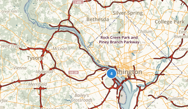 George Washington Memorial Parkway Map