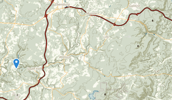 trail locations for Allegheny Portage Railroad National Historic Site