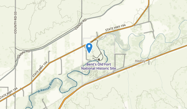 Bent's Old Fort National Historic Site Map